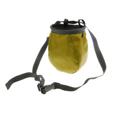 Chalk Bag for Rock Climbing Weightlifting Bouldering w/ Top Drawstring Green