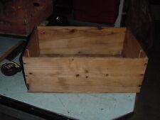 VINTAGE WOOD SHIPPING BOX GRANDE MARQUE WHITE WINE 19 3/4 x 13 x 7