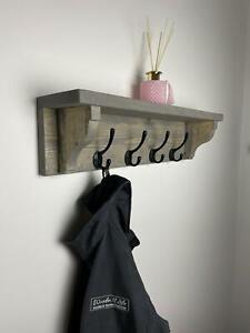 Handmade Wooden Coat Rack, Coat Hook, Coat Storage, Coat rail, Shelf,Coat hooks