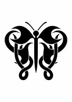 Celtic Knot Butterfly, Stencil 350 micron Mylar not thin stuff #TaT0119