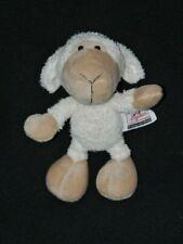 Peluche doudou mouton SIGIKID blanc beige yeux durs 17 cm TTBE