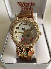 New Disney Winnie The Pooh, Leather Strap, Quartz New, Box, Warranty