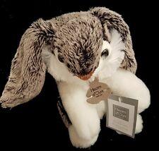 Doudou Lapin Moka HISTOIRE D'OURS HO2333 18cm Noir Gris Blanc NEUF