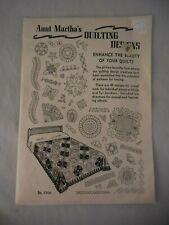 Vintage Aunt Martha's Quilting Designs 45 Designs NIP Uncut No. 3366