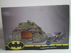 Dept 56 Batman The Bat Cave Set of 2 6003757 Cave and Batmobile