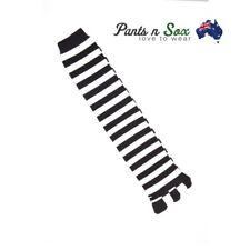 Five Fingers Ladies Knee High Toe Socks Black White Women AU Stock