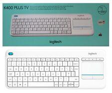 Logitech K400 Plus TV kabellose QWERTZ Tastatur mit Touchpad Neu & Ovp Weiss