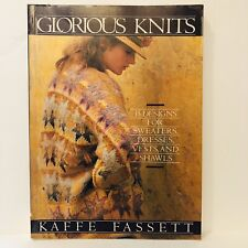 Glorious Knitting by Kaffe Fassett Paperback Book 160 Pages 35 designs Pre Owned