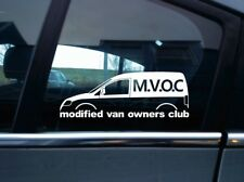 MVOC modified van owners club sticker - for VW Caddy van Mk3 (2k) volkswagen