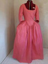 Barock Rokoko Rokokokleid Baumwolle rosa Blumen Damast Gr L  42 44 Kostüm Kleid