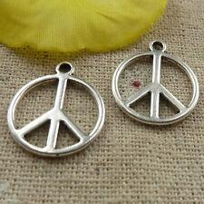 free ship 190 pieces tibetan silver peace symbol charms 21x18mm #4106
