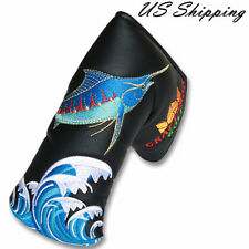 Black Blade Putter Cover Headcover For Odyssey Taylormade Golf Magnetic