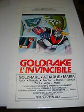 ATLAS UFO ROBOT  GOLDRAKE L' INVINCIBILE 1979 Locandina ! GOLDORAK GRENDIZER