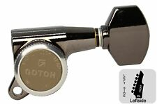 GOTOH SG381-07-MGT Locking Tuners w/ Small Knobs - Cosmo Black - 6L