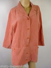 ☆ Ladies Pink Soft Touch Long Sleeved Work Shirt Top/ Light Jacket UK 14 EU 42 ☆