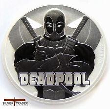 2018 1oz Deadpool Marvel Series 1 ounce Silver Bullion Coin unc: