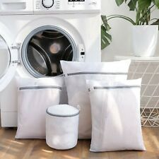 Zipper Mesh Laundry Bag Travel Foldable Storage bathroom Organizer cloth washing