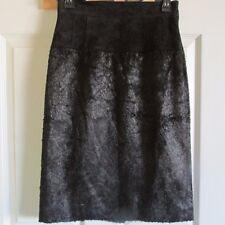 Size 0 Alexander Wang Lambskin Strech Leather Black Skirt NWT $1095