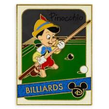 New 2020 Disney Parks Pinocchio Pin – Trading Cards: Billiards – Limited Edition