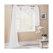 blanc 150x500cm 150x500cm SUR MESURE écharpe de fenêtre de voile lambrequin