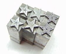Printing Letterpress Printers Block Lead 6 Stars