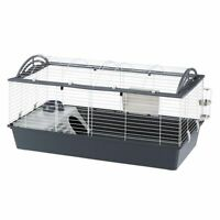 Rabbit Cage Indoor Guinea Pig Food Water Large Roomy Split Roof Easy to Assemble