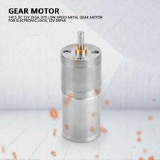 25mm DC12V 25GA-370 motor de engranajes con Baja Velocidad Metal Gear 5RPM-1000RPM para armar uno mismo