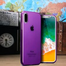 iPhone 10 Durable Light Weight Cover Gel TPU Precision Fit Purple Case