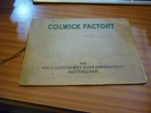 COLWICK FACTORY ANGLO SCOTTISH BEET SUGAR NOTTINGHAM FACTORY BROCHURE