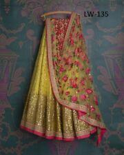 Yellow Lehenga Choli Ghagra Indian Pakistani Designer Lengha Bollywood Saree