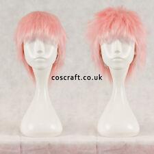 Short con capas Fluffy spikeable Cosplay Peluca En Rosa Suave, vendedor de Reino Unido, Jack Estilo