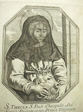 Ste Thècle Thécla d'Iconium Lion Michiel VAN LOCHOM à Duchesse d'Aiguillon 1639