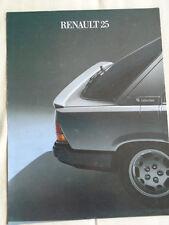Renault 25 brochure 1985 Italian text