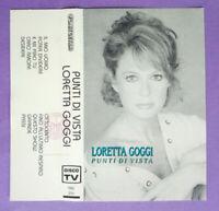 COPERTINA INLAY MC Musicassetta LORETTA GOGGI Punti Di Vista no lp cd dvd vhs