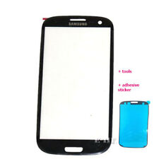 Front outer Glass Screen For Samsung Galaxy S3 red pink white black + adhesive