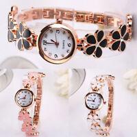 Fashion Women Flower Round Dress Watch Quartz Analog Bracelet Wrist Watches #cvn