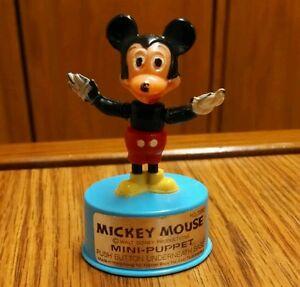 Vintage Walt Disney Mickey Mouse Push Puppet, Kohner Bros.,  Nice!