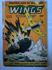 WINGS COMICS 58 FICTION HOUSE 1945