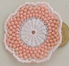 1:12 Scale Mixed Pink Crochet Table Doily Tumdee Dolls House Miniature LB