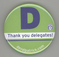 2014 DEVAL PATRICK Massachusetts Governor POLITICAL Pin BUTTON Pinback BADGE