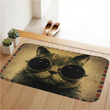 60x40 Cool Cat  Kitchen Bath Bathroom Shower Floor Home Door Mat Rug Non-Slip