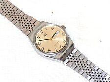 Vintage Mens Mans Watch Wristwatch Q&Q Automatic Quartz Japan Date Adjustable