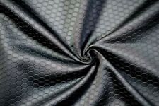 New Yaya Han Black Scuba Hexagon Fabric for Cosplay, Totes, Sports Covers, etc
