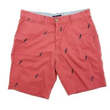 Tommy Hilfiger Mens Shorts Size 36 Red Shark Print Casual
