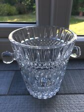 More details for 1970's retro, heavy pressed crystal glass ice bucket/ wine cooler 14cm tall