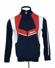 Retro Ellesse Tracksuit Top / Jacket Blue Red White Spellout Mens Medium