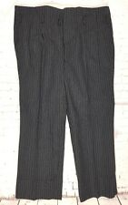 Vtg 40s/50s Striped High Waist Button Fly Wool Trousers  W36 EY20