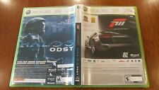 Forza Motorsport 3 & Halo 3 ODST (Xbox 360, 2009) 2-PACK VERY GOOD W/MANUALS