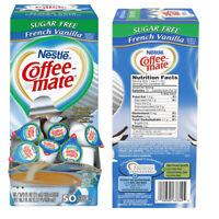 50 Ct Coffee Creamer Sugar Free French Vanilla Liquid Non Dairy Creamer Singles