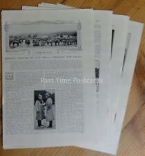 WW1 BATTLES OF THE GREAT STRUGGLE 4 CALAIS 1914 The Great War 9x Original Prints